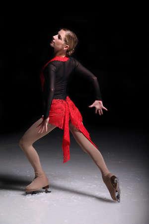 figure skating girl dancing and ice skating