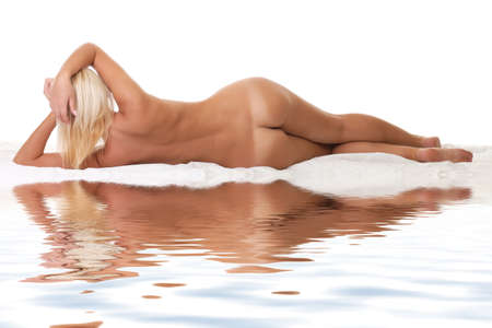 Naked body of the beautiful young woman.