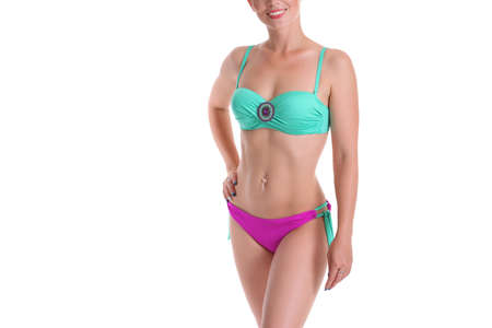 young sexy girl in bikini with beautiful body