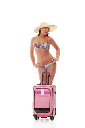 woman with suitcase going on a holiday