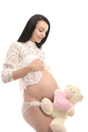 Pregnancy and maternity concept. Happy pregnant woman Reklamní fotografie