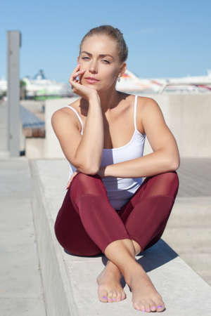 young woman in sportswear Stok Fotoğraf