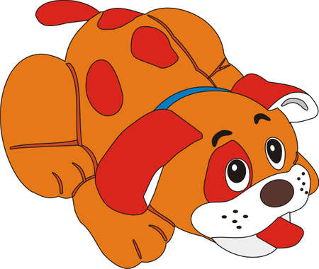 childs drawing of a puppy dog in vector form
