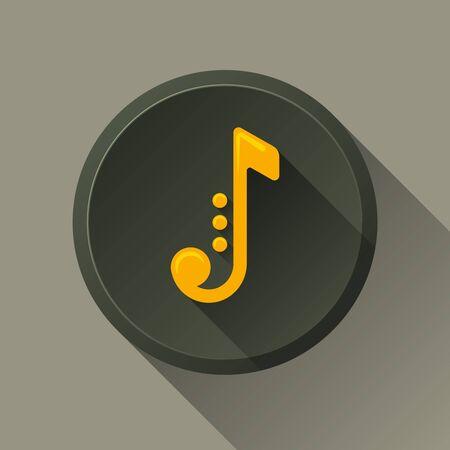Music note. Jazz Icon . Music button  イラスト・ベクター素材
