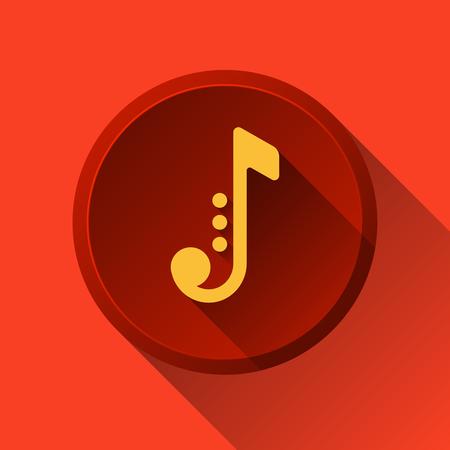音楽に注意。ジャズのアイコン。音楽ボタン