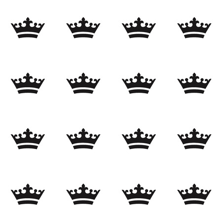 黒の王冠のシームレス パターン  イラスト・ベクター素材