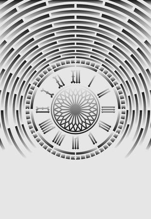 ローマ数字の時計の光の抽象的な背景  イラスト・ベクター素材