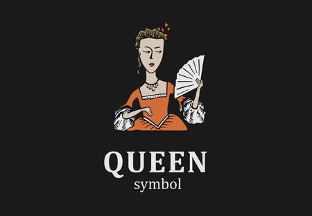 サロン、ショールームやパーラーの若い女王のシンボル。
