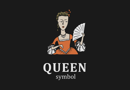 Young queen symbol for salon, showroom or parlor.