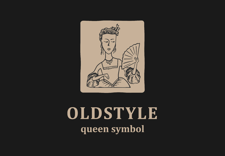 Old style sign with young queen.