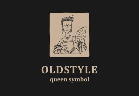若い女王と古いスタイルのサイン。