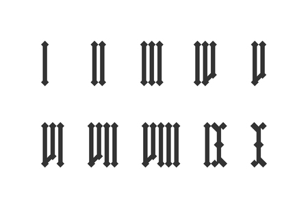 Roman numeral set from one to ten  イラスト・ベクター素材