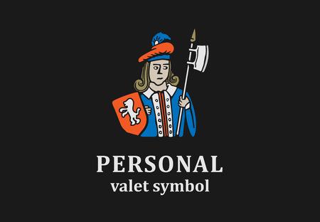 ロゴの深刻なまたは人類のブランド。