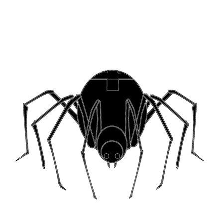 고립 된: 격리 된 거미 일러스트