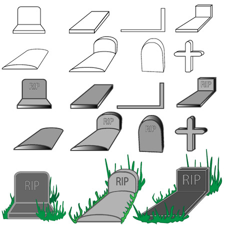grave stone: grave stone isolated