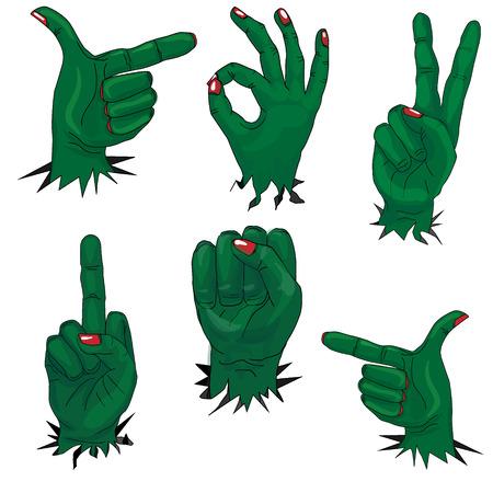 zombie hand: zombie hand set isolated