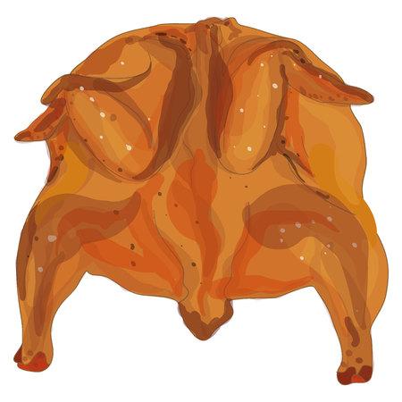 crisp: roasted chicken isolated on white background