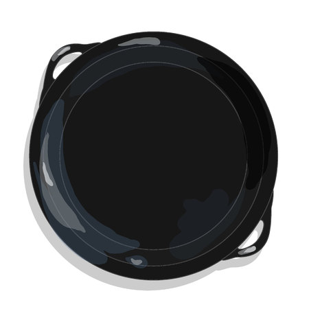 browning: Frying pan, vector isolated