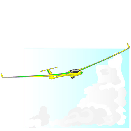 Aliante veleggiatore illustrazione isolato su sfondo cielo