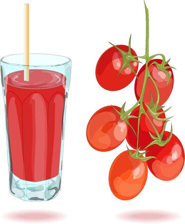 tomato juice: Fresh tomato juice isolated on white background