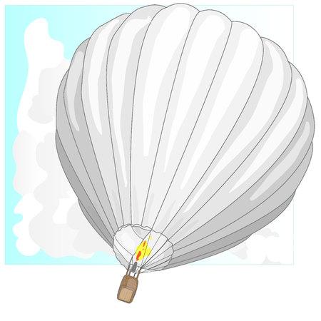drifts: Hot Air Balloon  montgolfier and Clouds