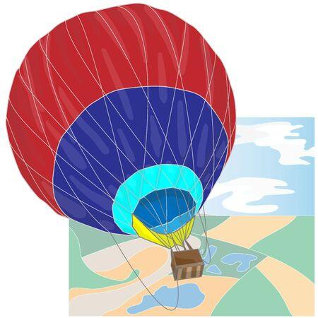 drifts: Hot Air Balloon  montgolfier vector isolated