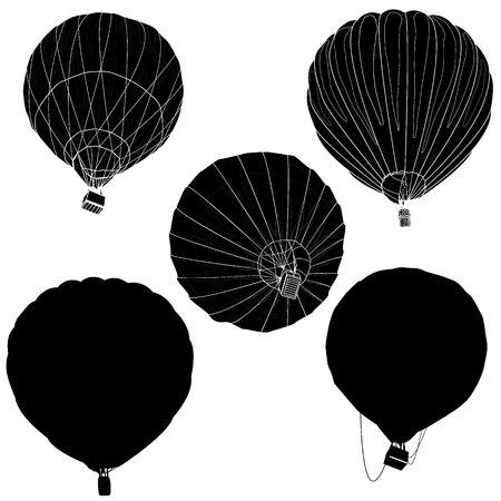 drifting: Hot Air Balloon  montgolfier vector isolated