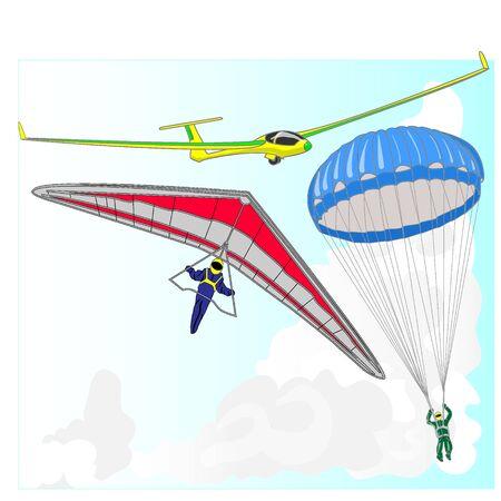 air transportation items vector set