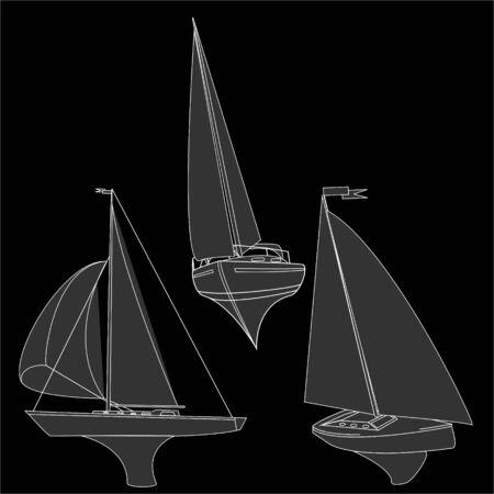 yacht vector illustration artvork