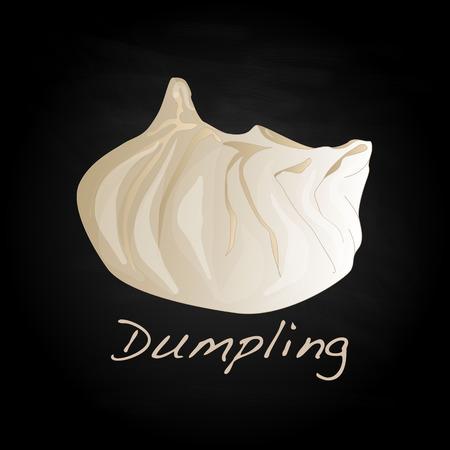Dumpling vector illustration. Isolated.