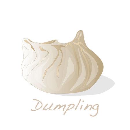 dim: Dumpling vector illustration. Isolated.