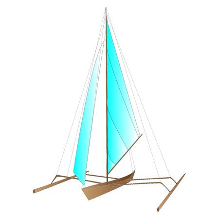 caribbean cruise: sea boat vector isolated
