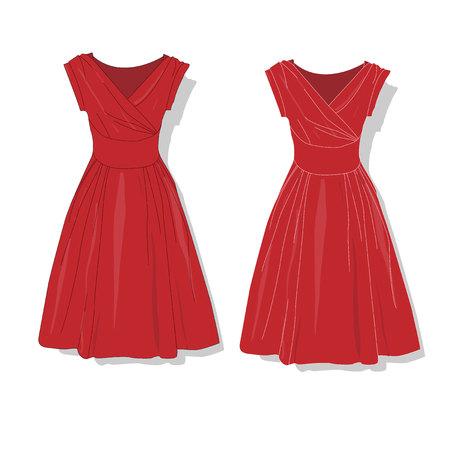 elegant dress: Elegant dress. Females clothes. Vector illustration Illustration