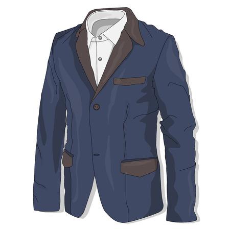 menswear: Jacket. Clothes collection.Vector illustration. Illustration