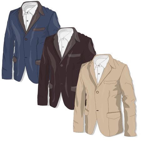blazer: Jacket. Clothes collection.Vector illustration. Illustration