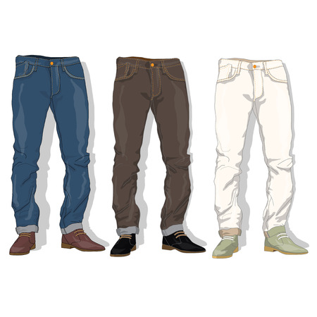 Male jeans. Vector illustration.