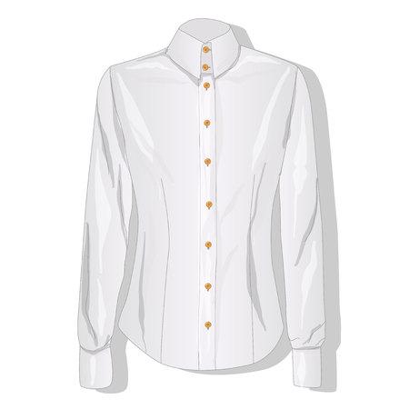 dress shirt: Dress shirt female. Clothes collection. Vector illustration.