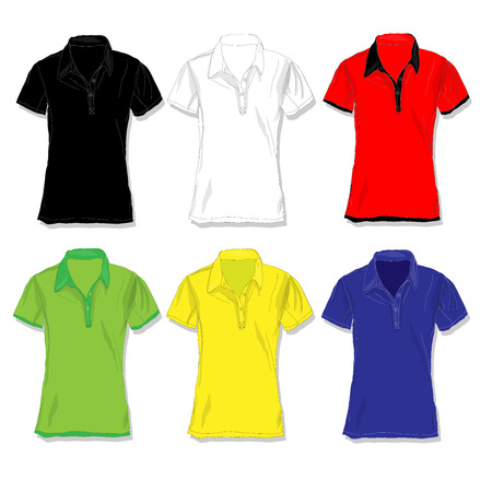 Male shirt illustration. Clothes collection.Vector.
