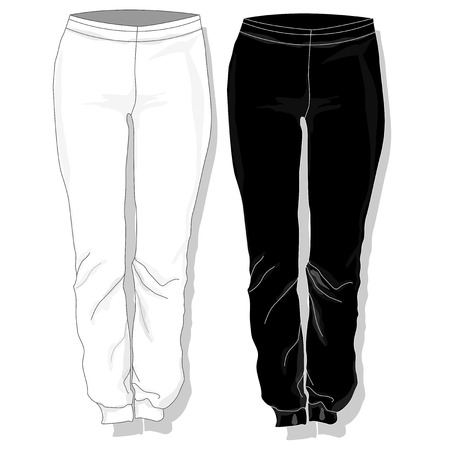 trouser: Trousers. Females clothes. Vector illustration isolated.