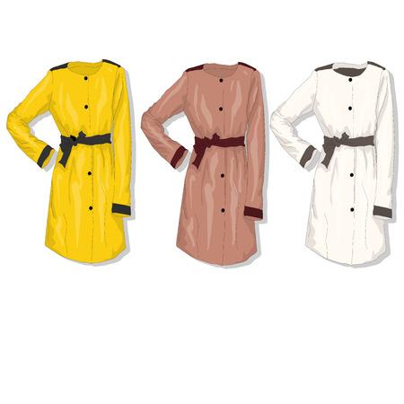 Female coat. Vector isolated.