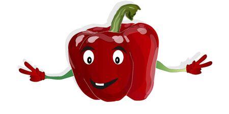 Cartoon vegetable vector image isolated on white background Illustration