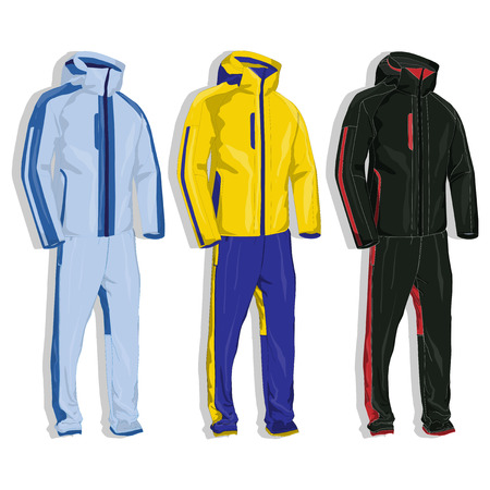 Sport suit vector isolated.