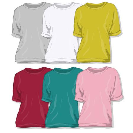 sweatshirt: Sweatshirt set vector illustration.
