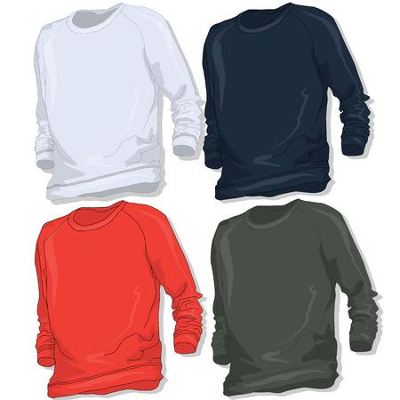 hooded sweatshirt: Sweatshirt set vector illustration.