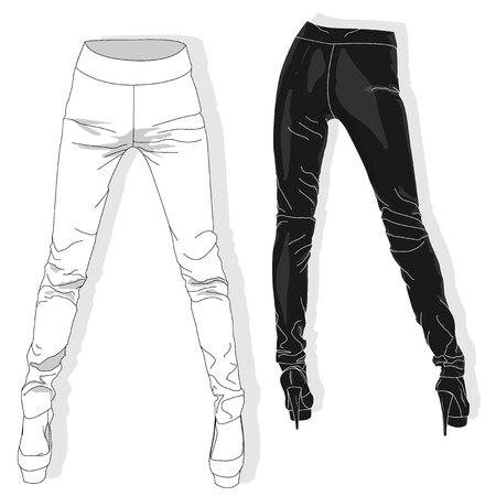 leggings: Woman leggings vector illustration isolated.