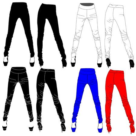 Woman leggings vector illustration isolated.