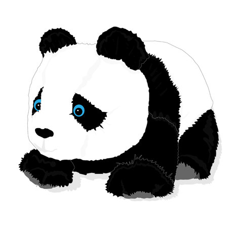 cute panda toy vector isolated