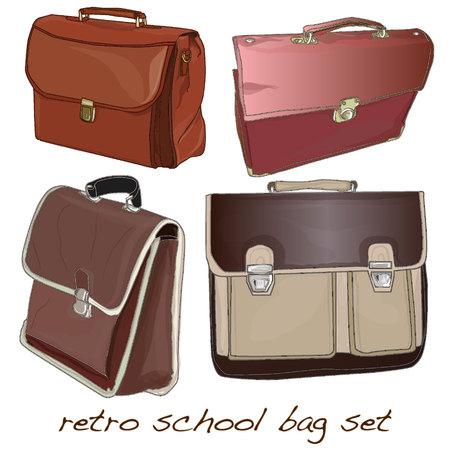 valise: school bag isolated