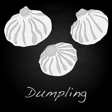 Dumpling illustration. Isolated.