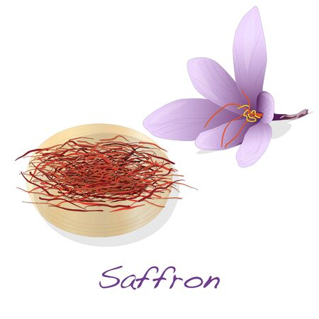 safran: Saffron flower set.